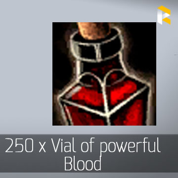 250 x Vial of powerful Blood - Guild Wars 2 EU & US All Servers - fast & safe