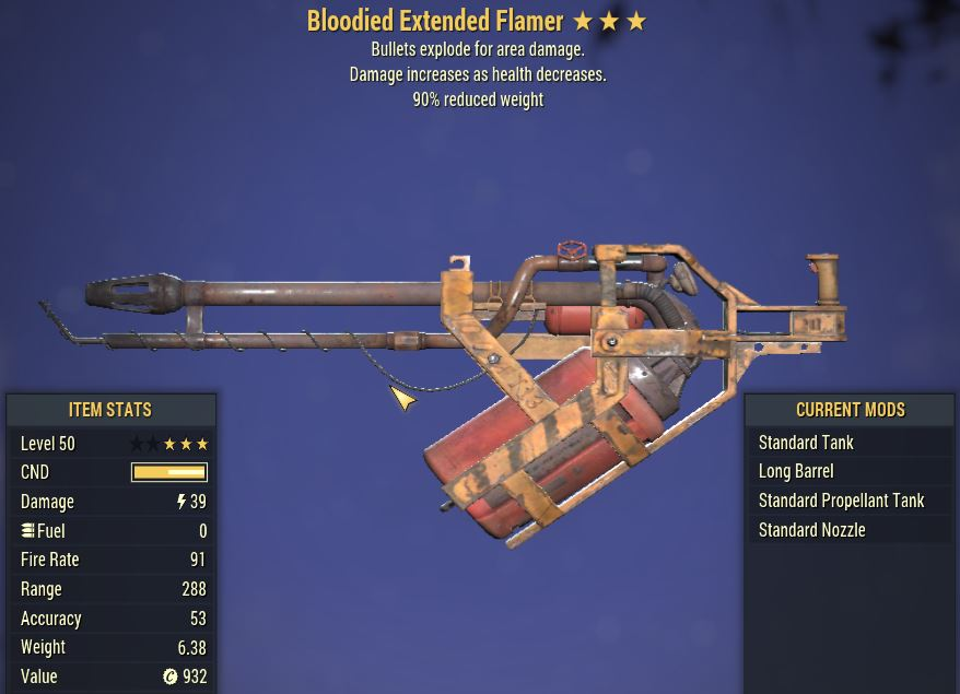 [PC] Bloodied Explosive Extended Flame [90WR]