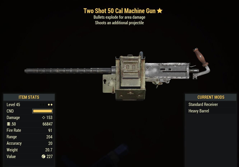 Two Shot 50 Cal Machine Gun - Level 45(2)