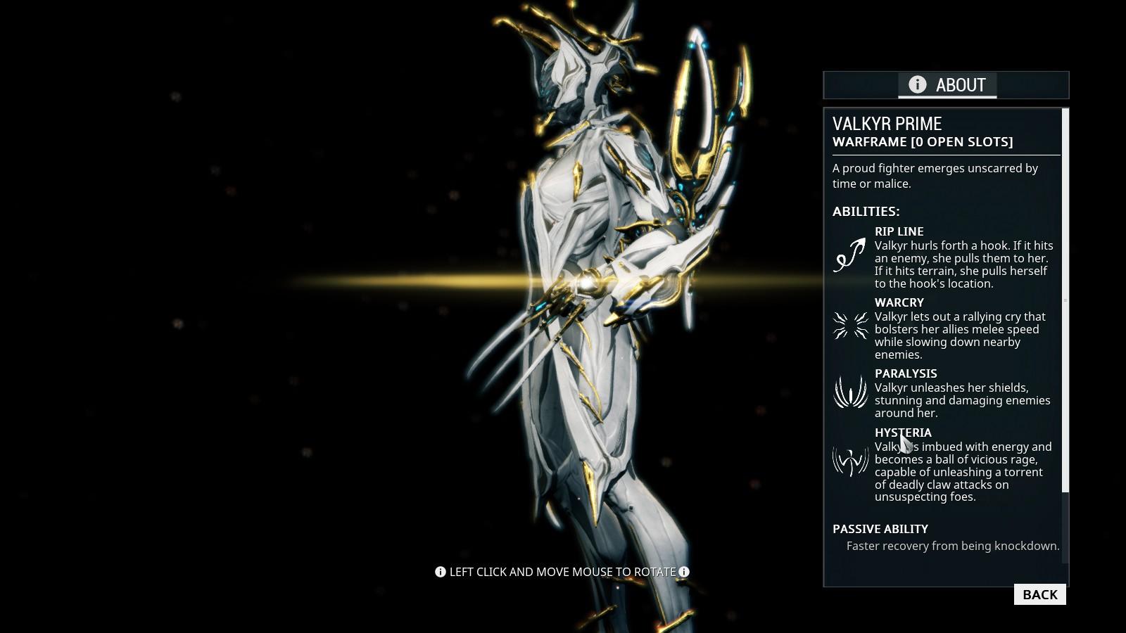 Warframe Valkyr prime PC