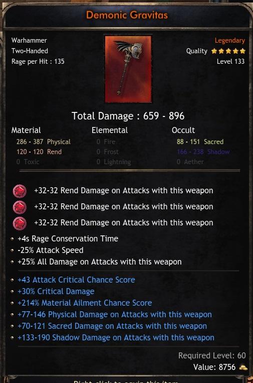 Legendary Warhammer 659-896