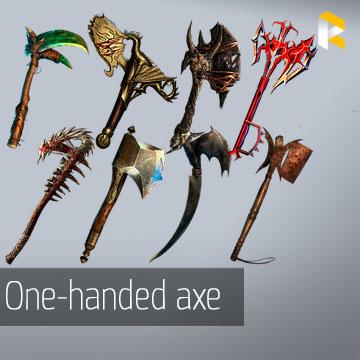 Any unique one-handed axe - read description
