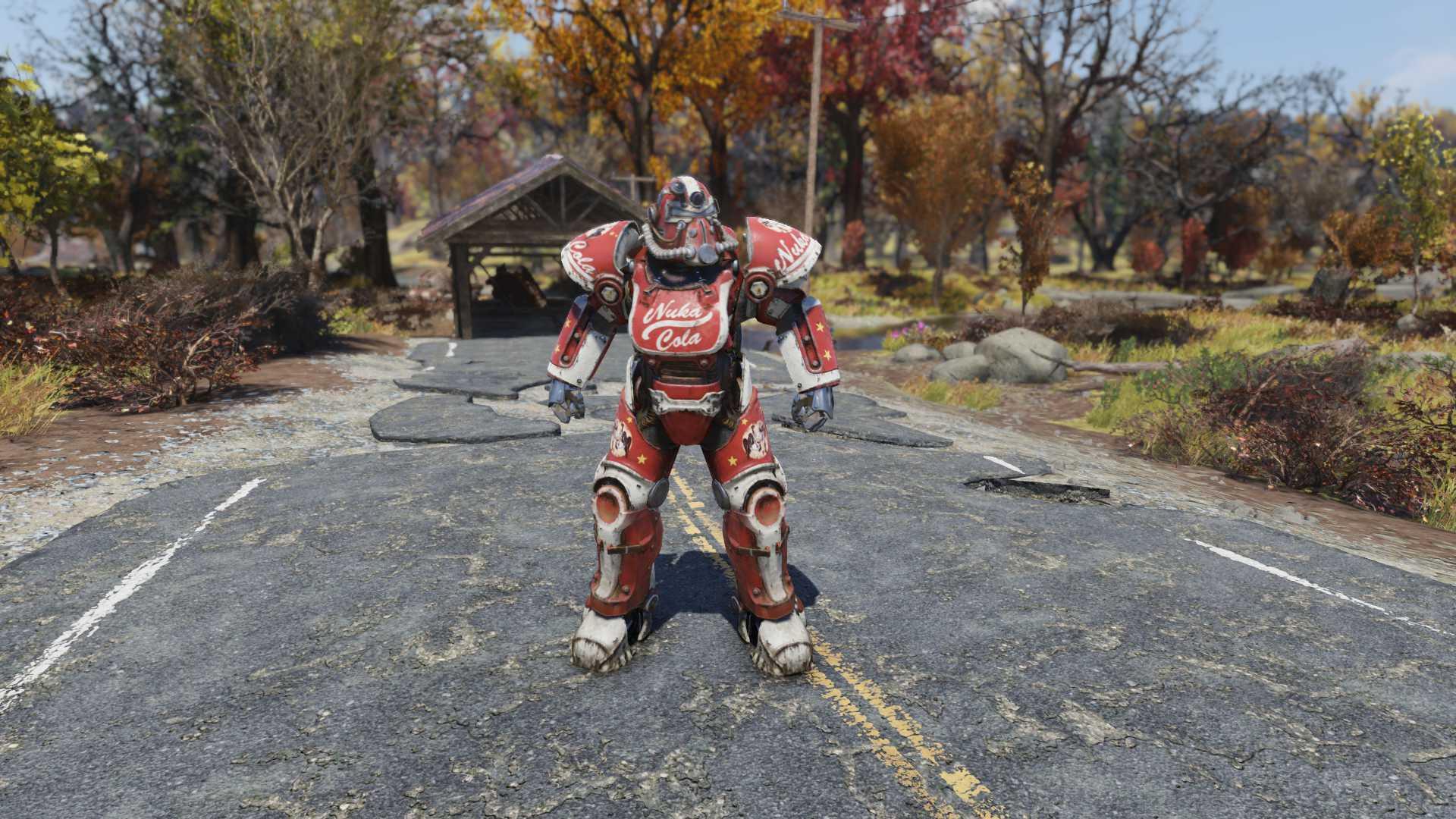 [Legendary Power Armor] Unyielding T-51b Power Armor Set (Food Drink Chem Weight Reduction, 6/6 AP)