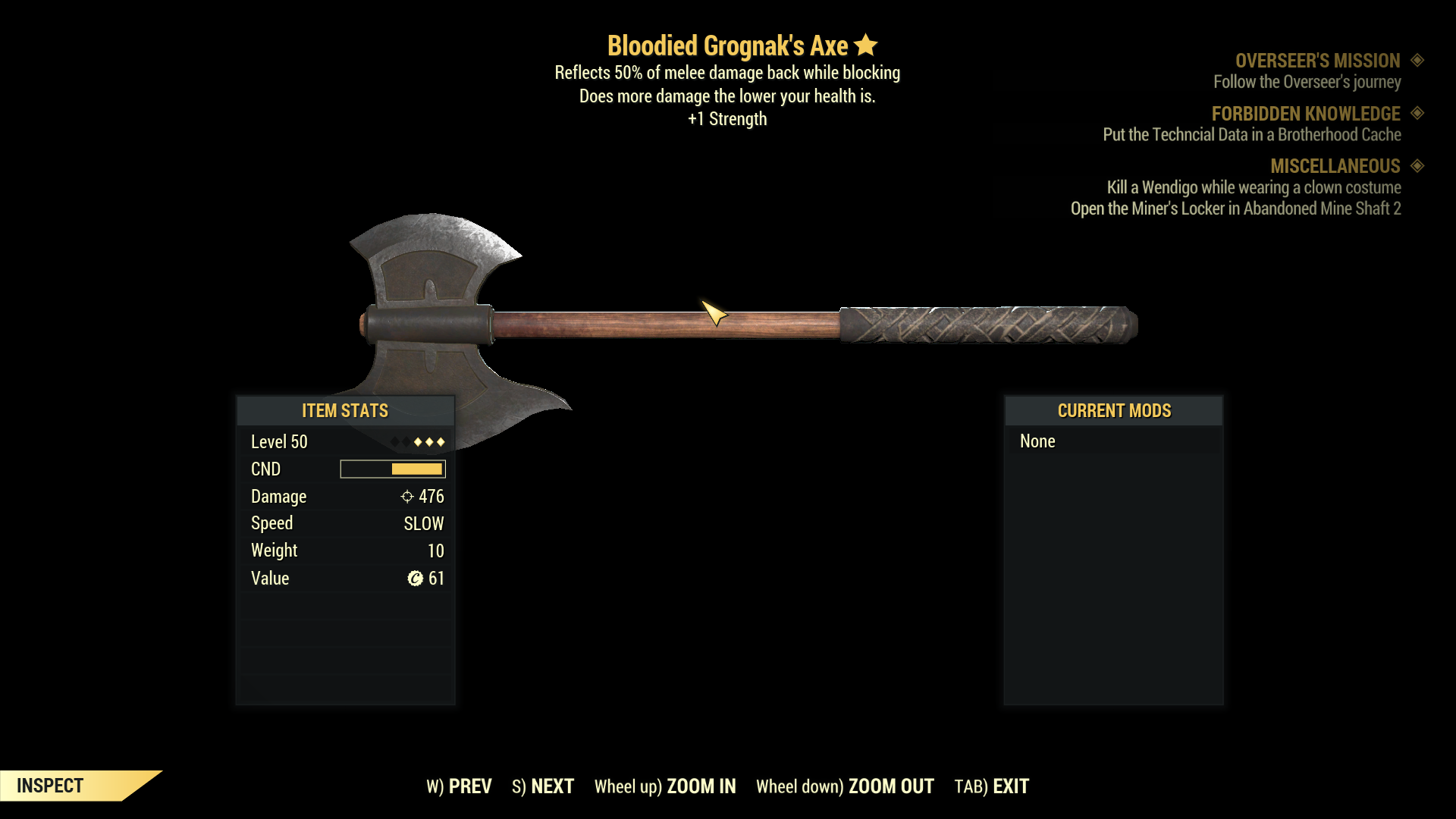 ★★★ Bloodied Grognak Axe[+1 STR][Reflect Damage] | FAST DELIVERY |