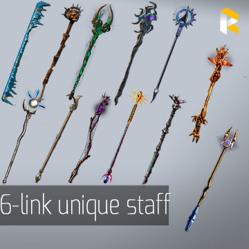 Any 6-link Unique Staff - read description