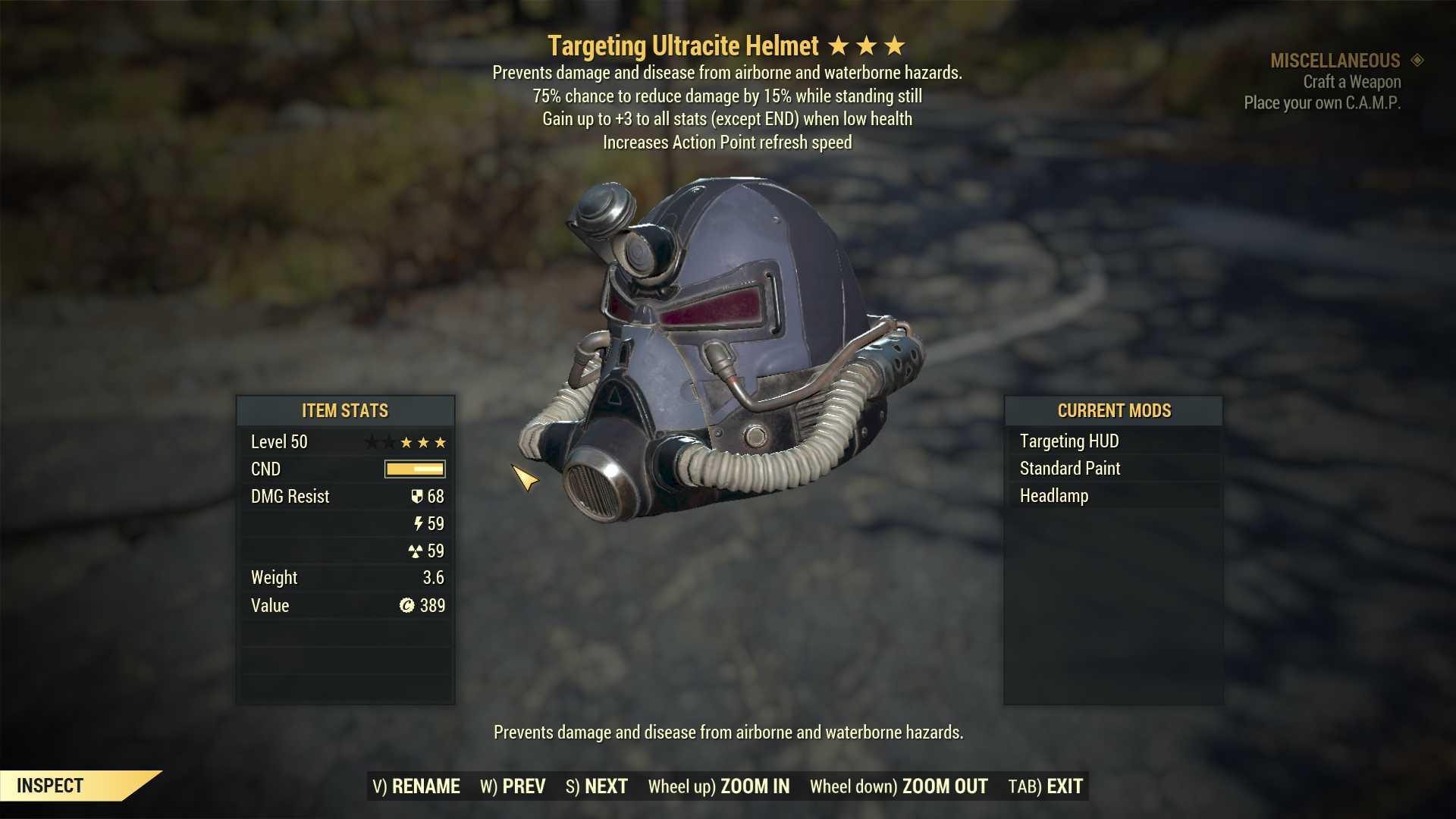 [Legendary Power Armor] Unyielding Ultracite Sentinel Power Armor Set (6/6 FULL AP REFRESH)