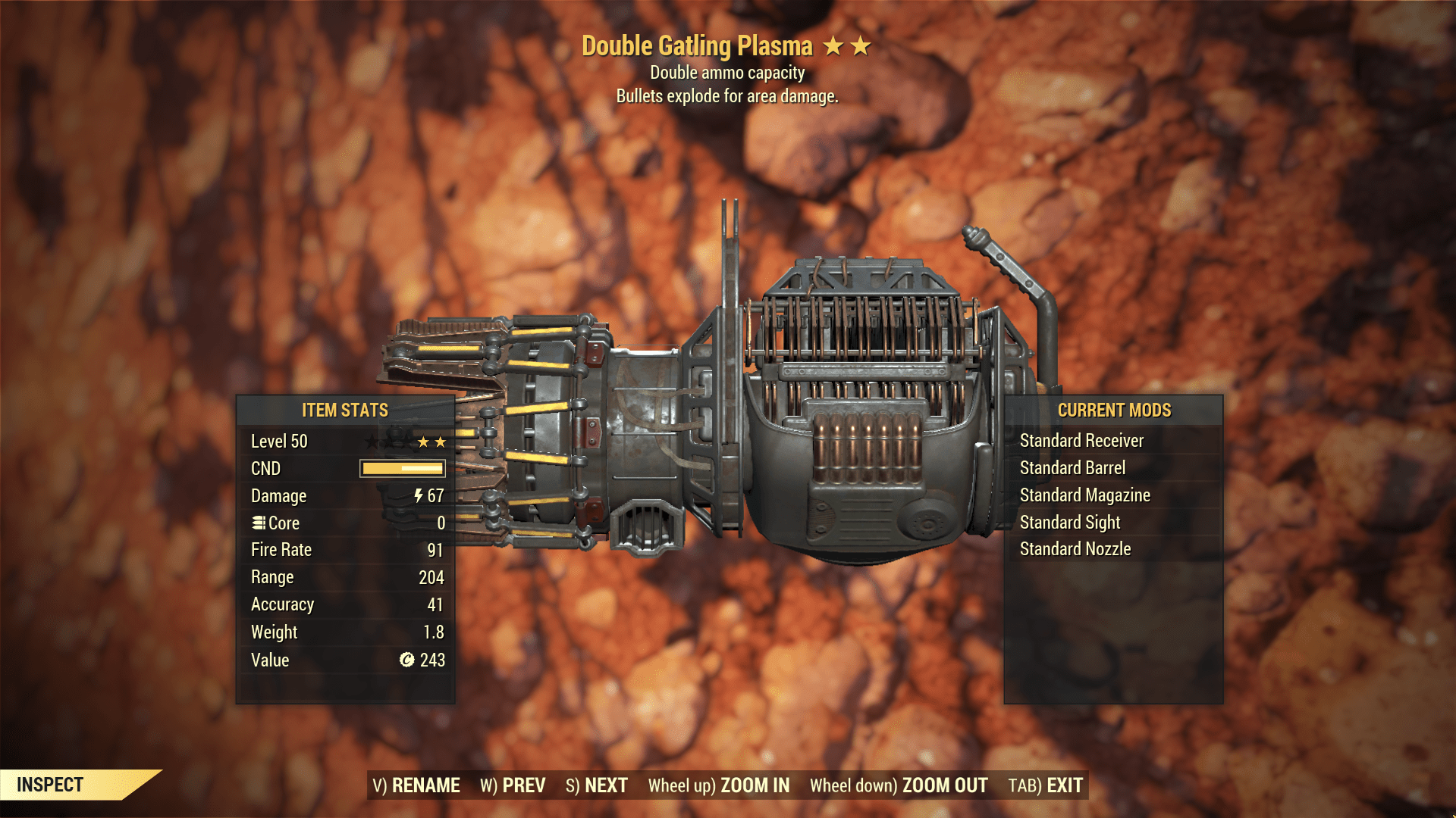 ★★ Double Explosive Gatling Plasma   MAX LVL   FAST DELIVERY  