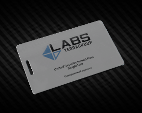 Docs + 16 TerraGroup Labs acces keycard  Instant delivery