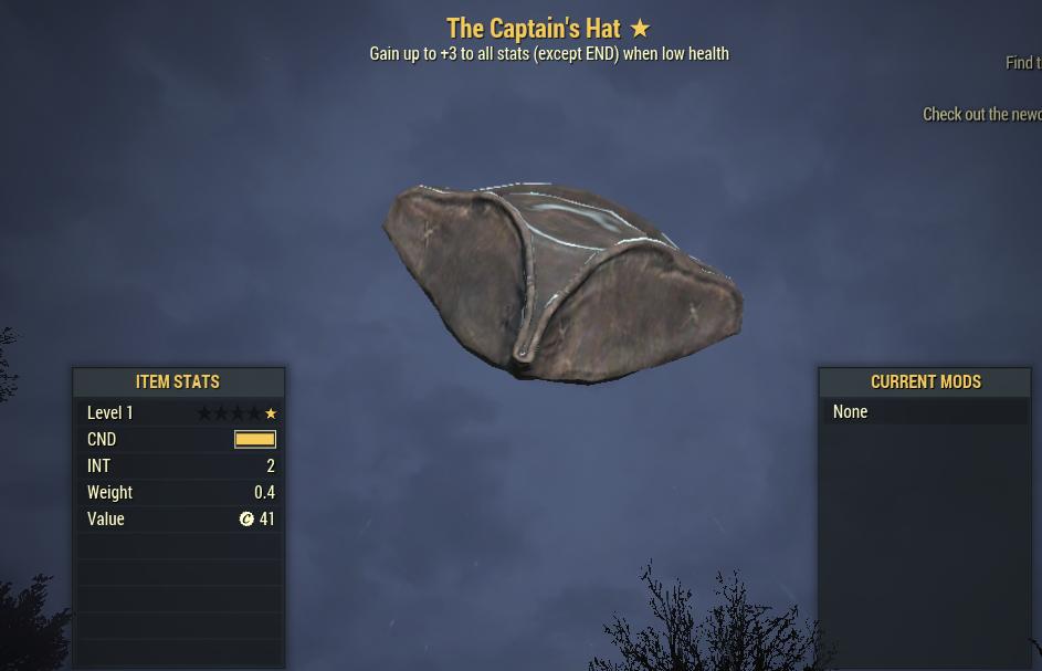 Unyielding Captain's Hat  [No repaired]