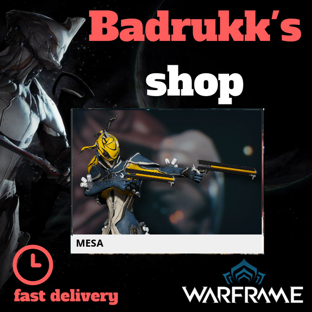[PC/Steam] Mesa Warframe + Slot + Orokin Reactor // Fast delivery!