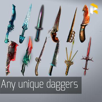 Any unique daggers  - read description