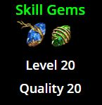 Skill Gems (Level 20, Quality 20) - Non Corrupted - Betrayal Softcore (PM me first)