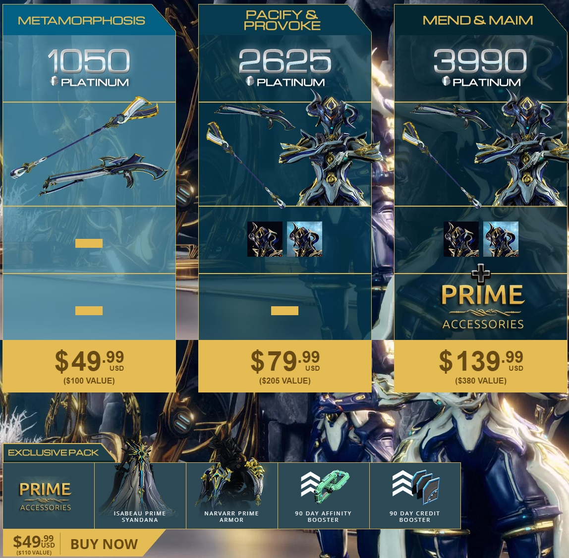 Equinox Prime Access: Accessories Pack - Before buy see MORE INFO