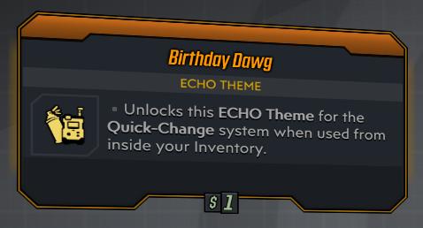 ★★★[PC] Birthday Dawg (Legendary Echo Theme)★★★