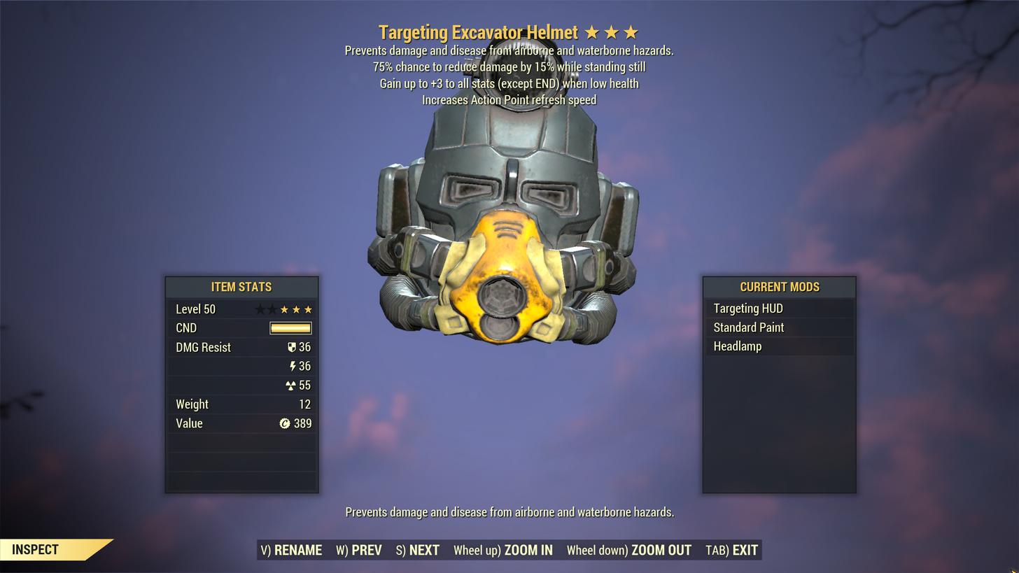 [Legendary Power Armor]★★★ Unyielding Sentinel Excavator Power Armor SET[6/6 AP Refresh]
