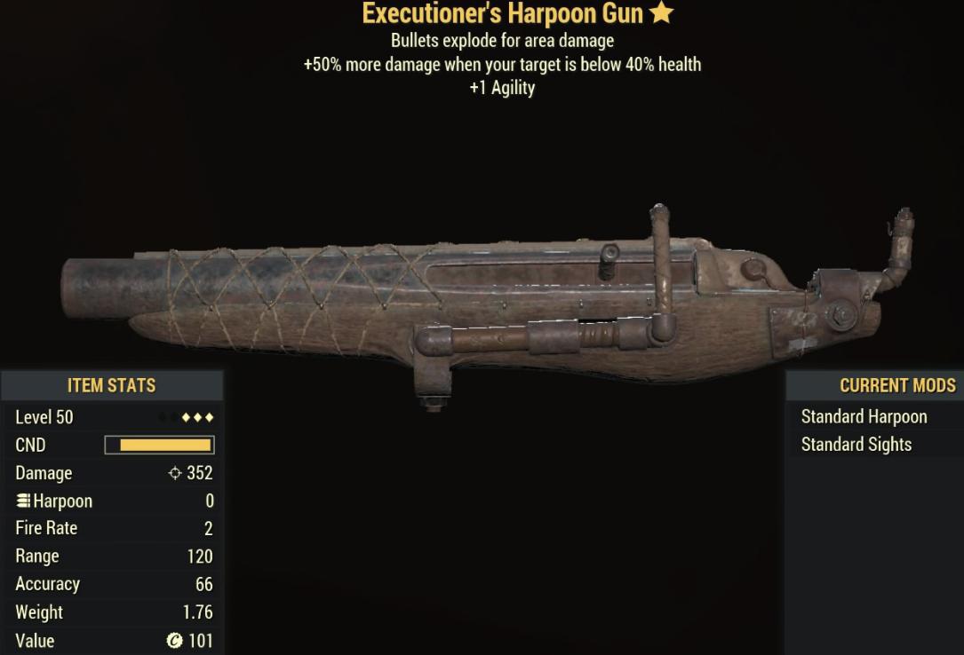 Executioners Harpoon Gun - Level 50