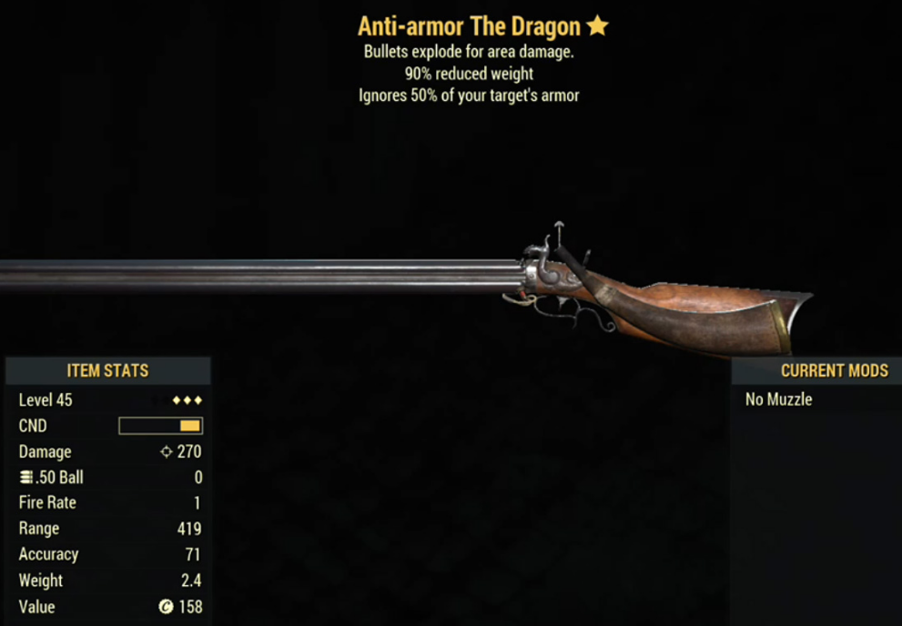 Anti-armor The Dragon- Level 45