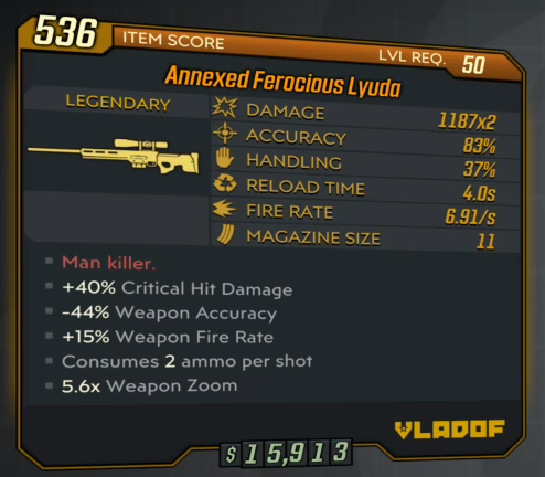 ★★★[XBOX] Annexed Ferocious Lyuda lvl 50 (BEST SNIPER IN THE GAME!)★★★