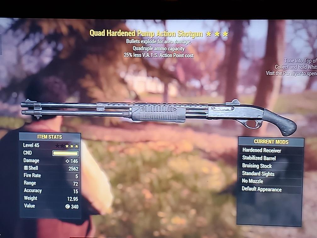 Quad Pump action shotgun With explosive bullets