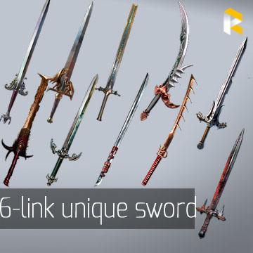 Any  6-link unique two-handed sword - read description
