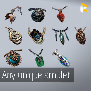 Any unique amulet - read description