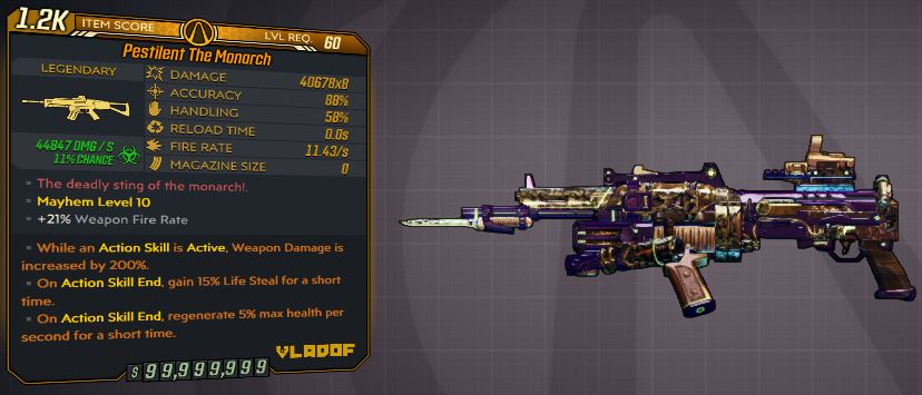 """[PS4] """"The Monarch""""  MAYHEM 10 MODDED OP OR LEGIT ANNOINTED 