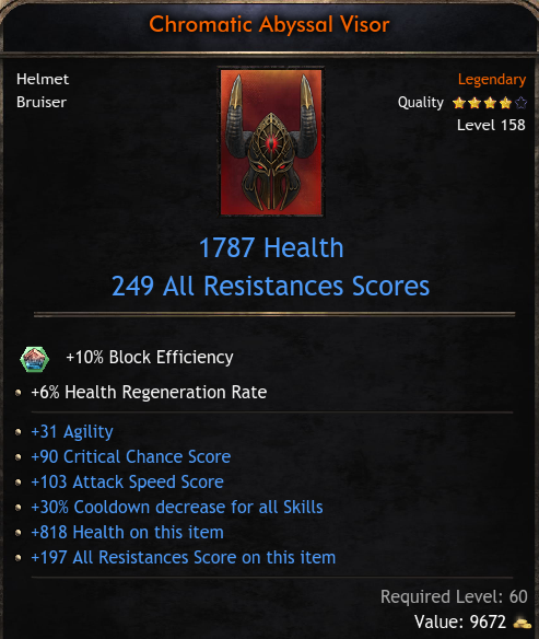 ★★★HELM 1787 HP 249 RES (31 agi, 90 crit hit, 103 att speed, 30% cd) - FAST DELIVERY★★★