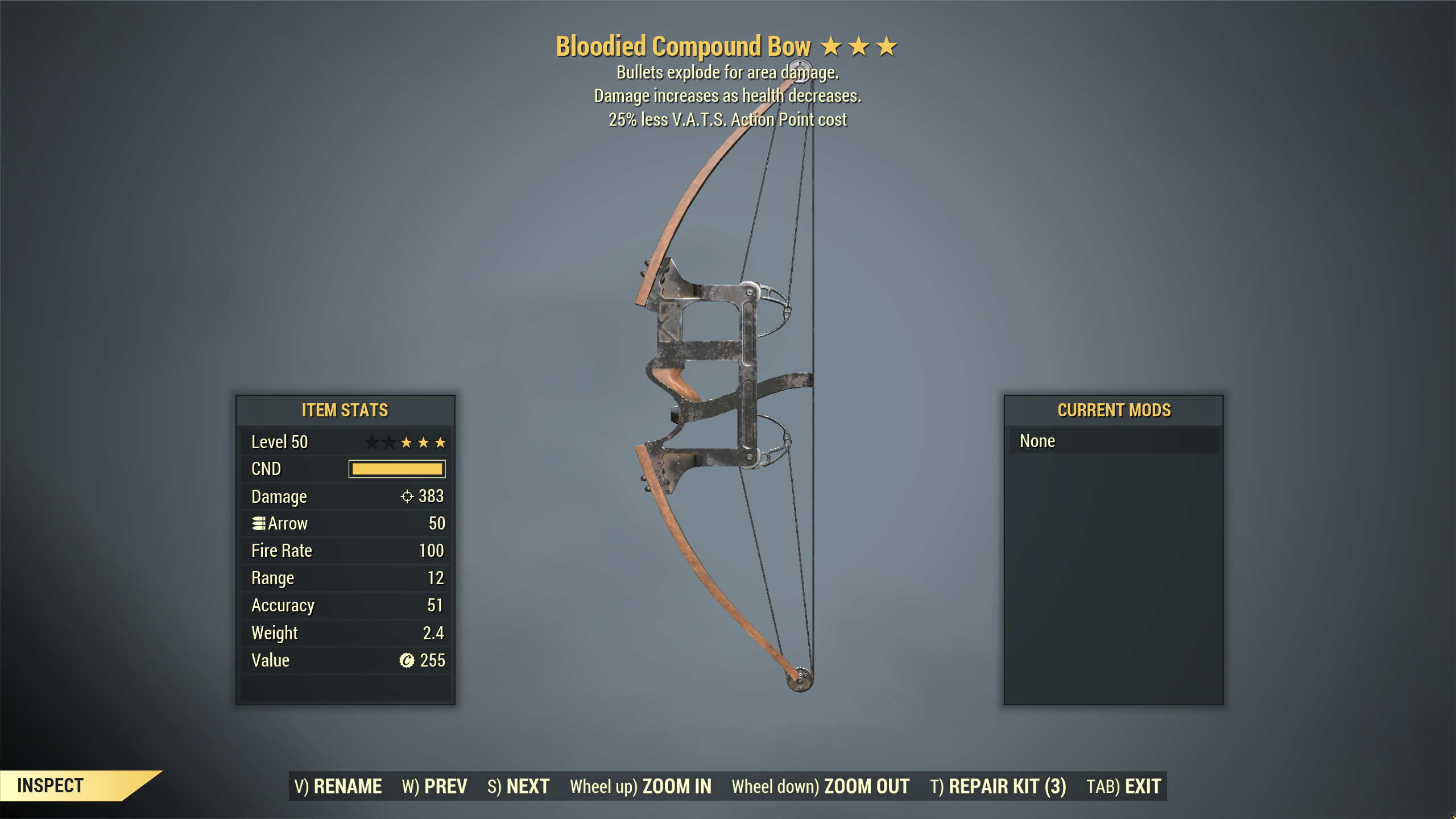[Wastelanders] ★★★ Bloodied Explosive Compound Crossbow | FAST DELIVERY |