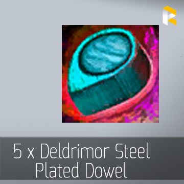 5 x Deldrimor Steel Plated Dowel