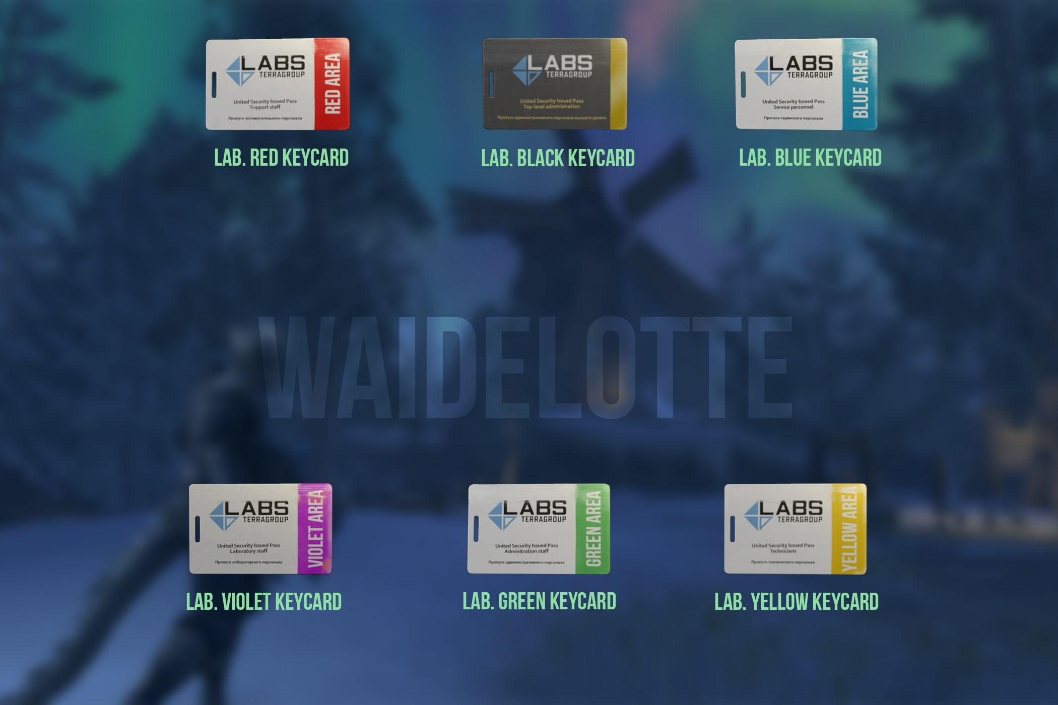 ⭐️ LAB set Lab. full keys set [3 keys + 6 keycards + docs] [Cheap and Fast delsivery]. 24/7 Instant
