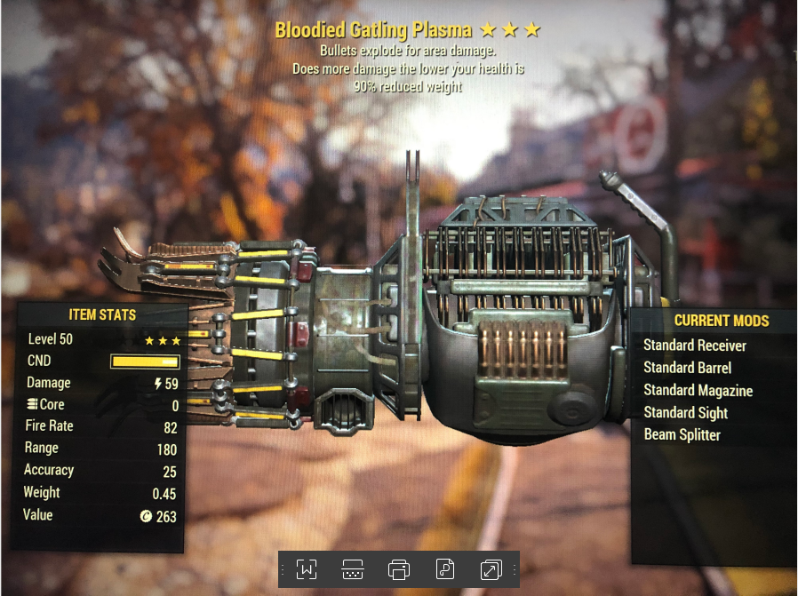 Bloodied Explosive Gatling Plasma[90% Reduced Weight]