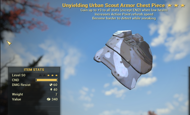 Unyielding Sneak FULL SET SCOUT URBAN [55 AP]