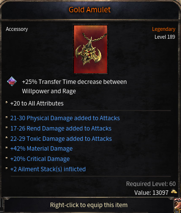 Triple Damage Rolls Amulet, Best of the whole Server