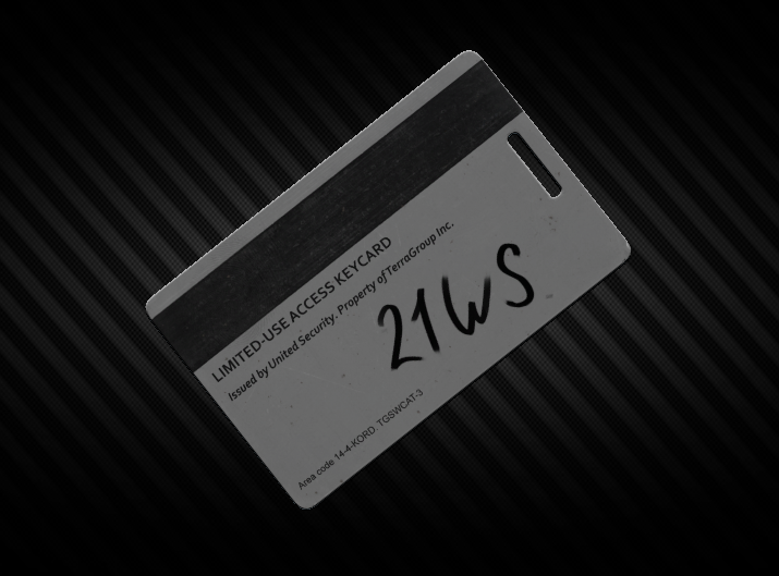 Key card from the object #21WS - Instant delivery