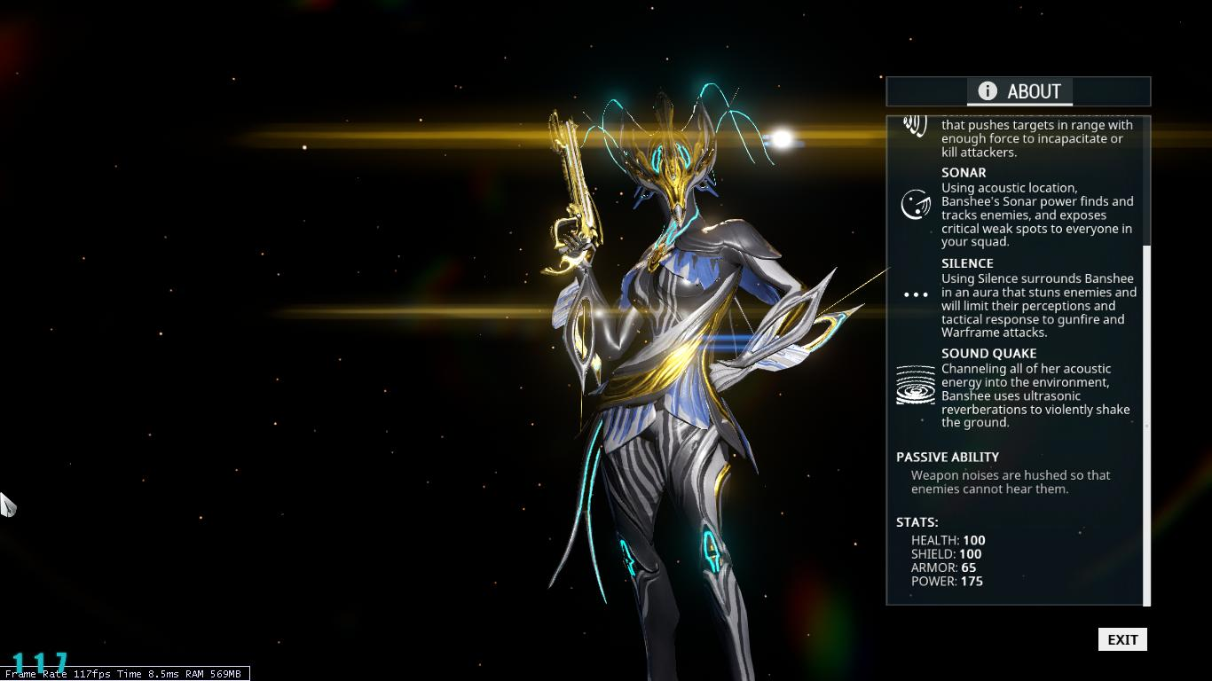Warframe Banshee Prime (required 8 rank) PC