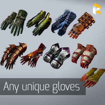 Any unique gloves - read description