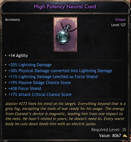 Unique Accessory - Hight Potency Neural Cord