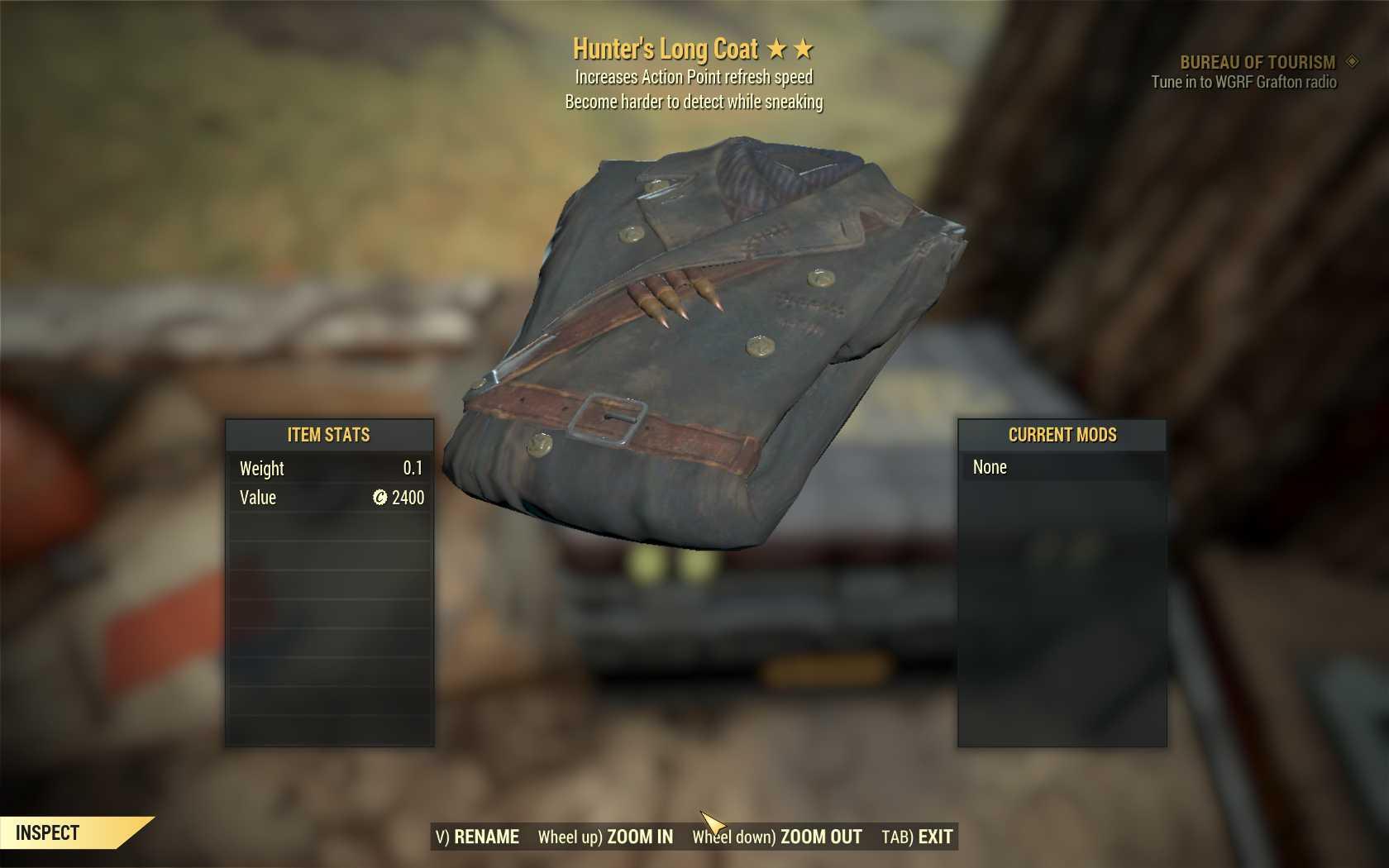 [Legendary Outfit] Sneak Hunter's Long Coat (AP REFRESH)