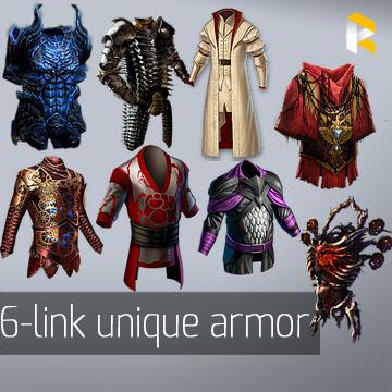 Any 6-link unique armour - read description