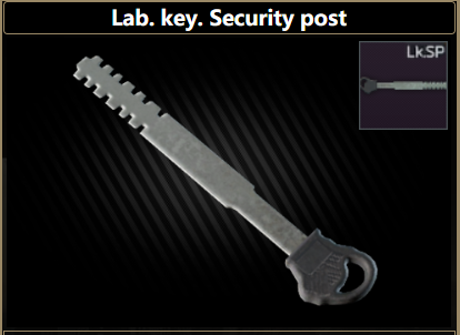 Lab. key. Security post