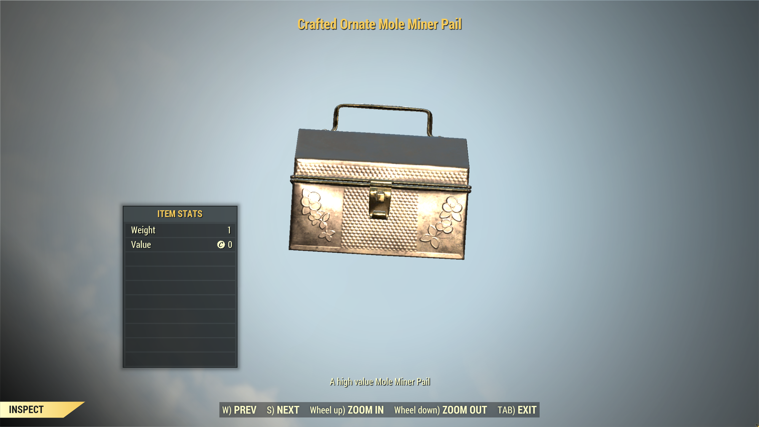 100x Crafted Ornate Mole Miner Pail [Wastelanders, Treasure Hunt EVENT] | FAST DELIVERY |