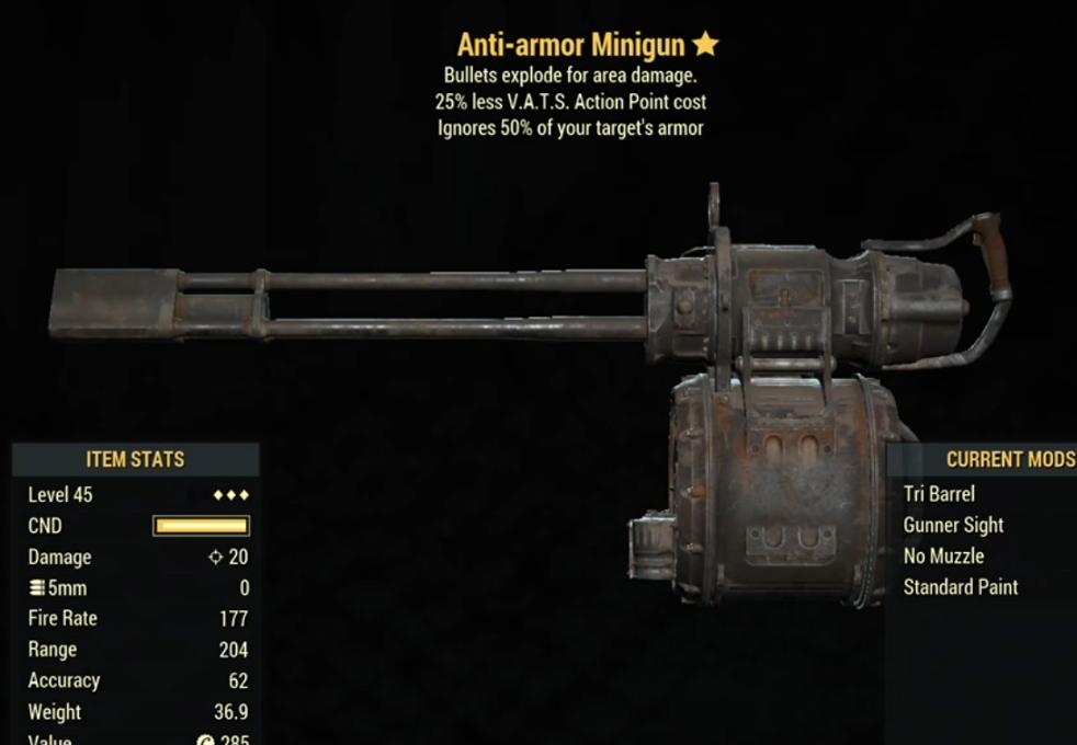 Anti-armor MiniGun- Level 45