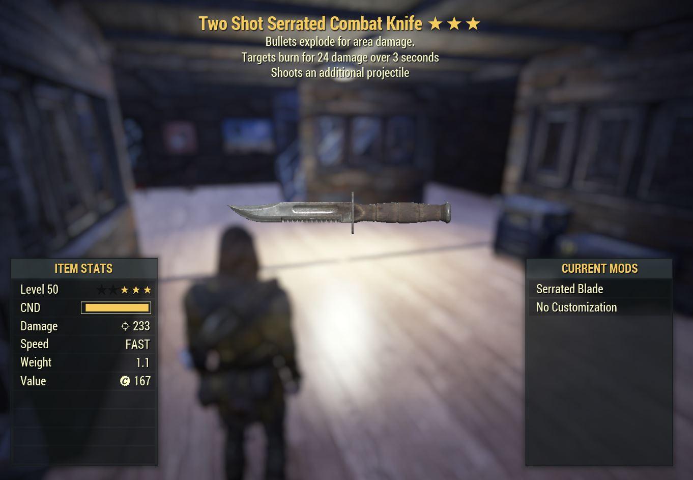 Glitched Knife TS/E/BURN (WATCH VIDEO)