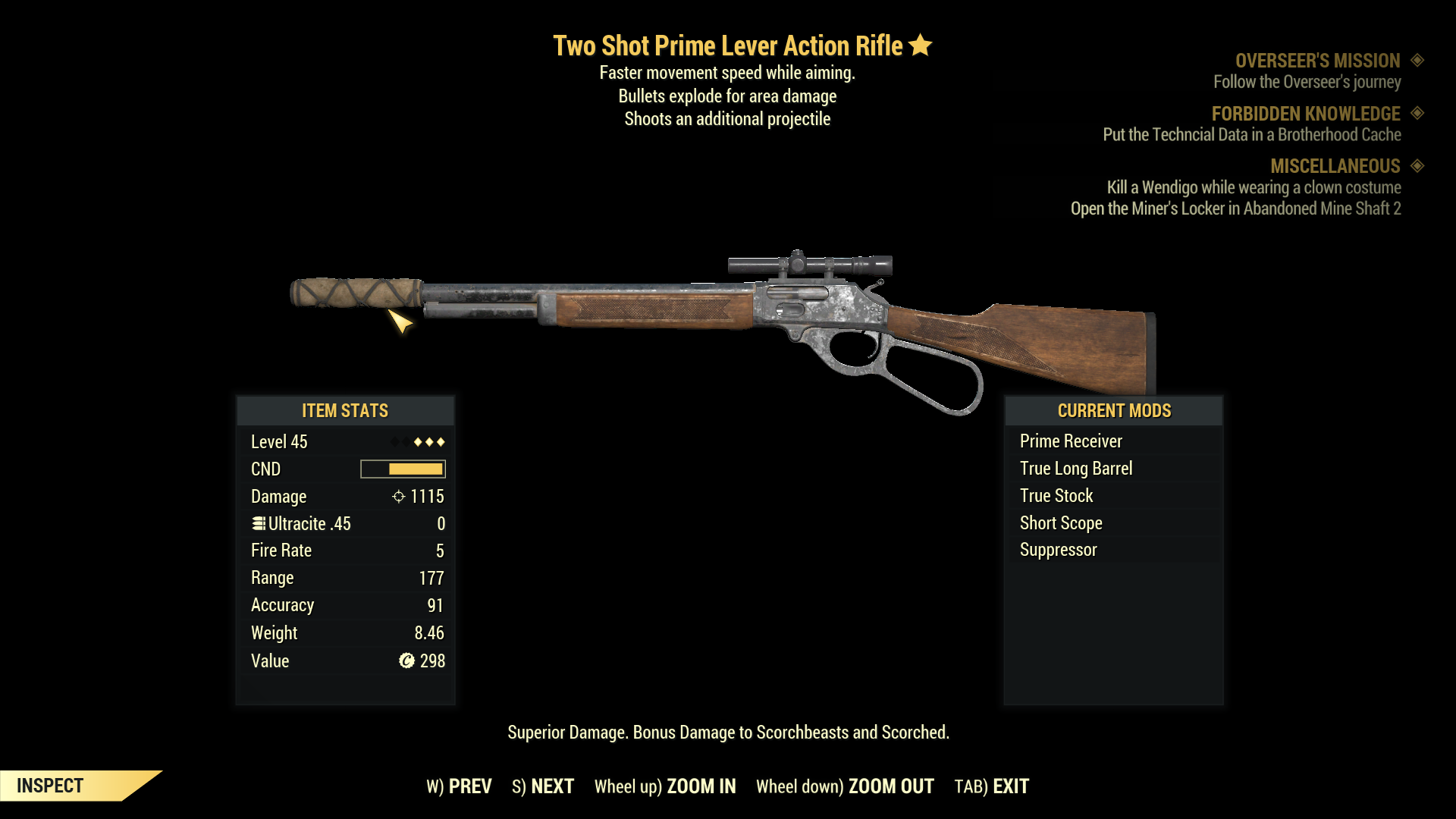 ★★★ Two Shot Explosive Prime Lever Action Rifle | FAST DELIVERY |