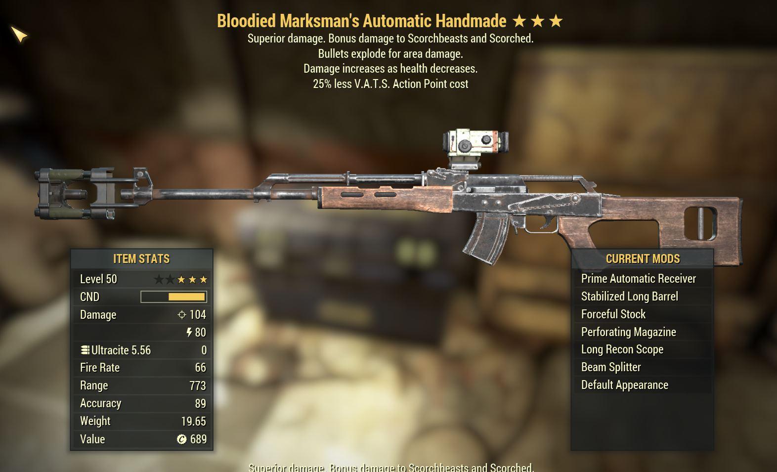 Fallout76 (PC) Glitched Handmade B/E/25