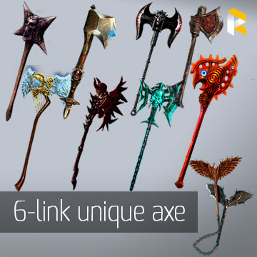 Any 6-link unique two-handed axe - read description