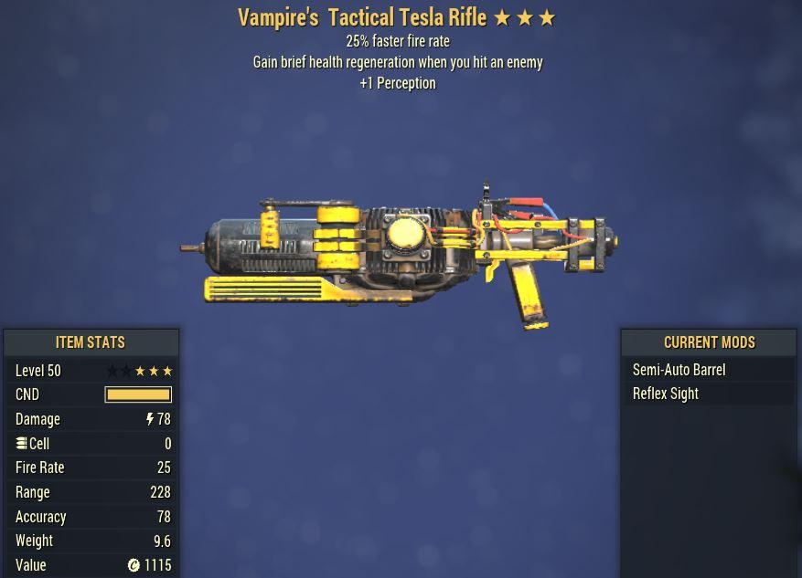 [PC] Vampire's Tesla Rifle [25FFR   +1 PER]
