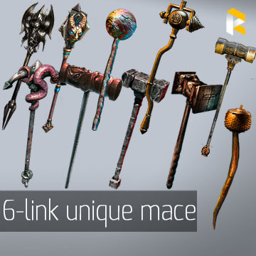 Any 6-link two-handed mace - read description