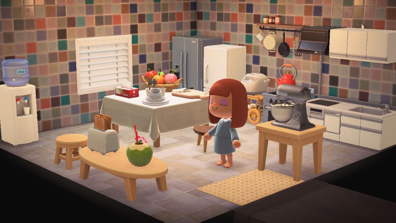 Animal Crossing New Horizons Furnitures Kitchen Room Set ... on Kitchen Items Animal Crossing  id=44063