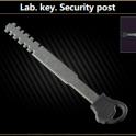 Lab. key. Security post